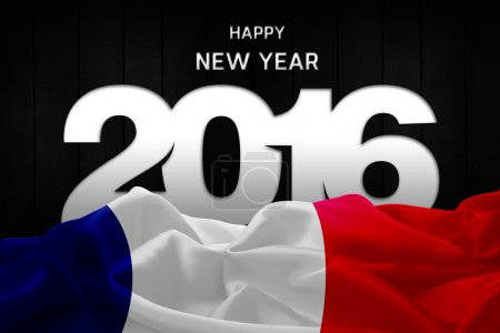 new year card with flag of France