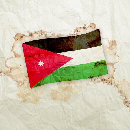 Jordan Country Flag