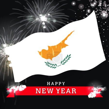 Cyprus Happy New Year card