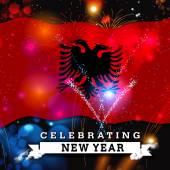 Boldog új évet kártya-val zászló