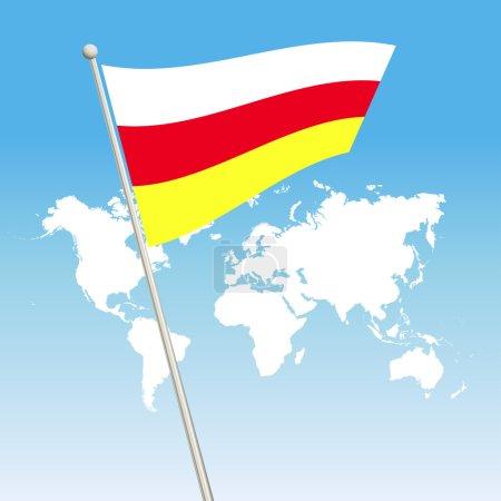 South Ossetia flag symbol