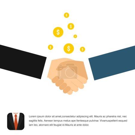 Business handshake icon