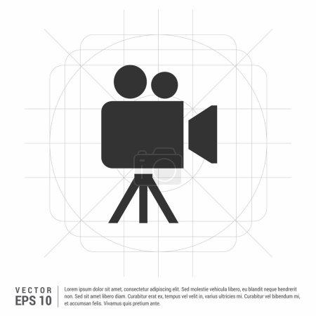 Illustration pour Icône de caméra vidéo, illustration vectorielle - image libre de droit