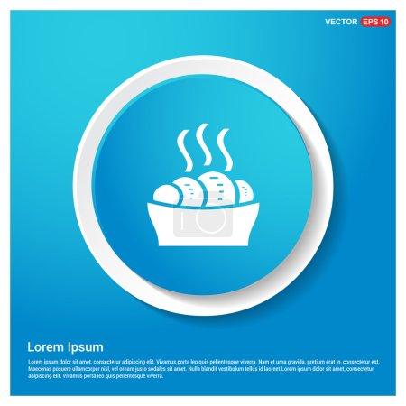 Sweet hot croissant icon