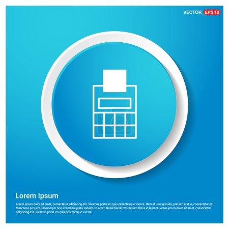 Illustration pour Icône de calculatrice d'entreprise. illustration vectorielle - image libre de droit