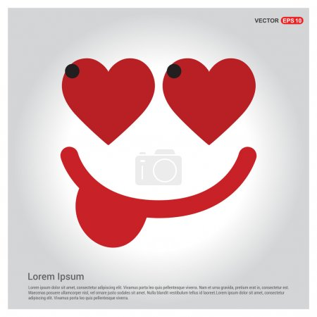 Illustration for Valentine holiday card, vector illustration - Royalty Free Image