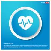 Heart ecg iconVector illustration Flat icon design style