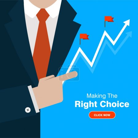 Making the Right Choice concept