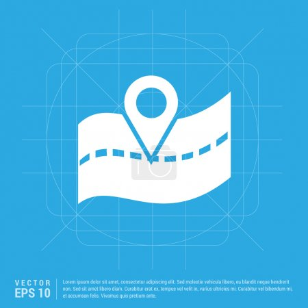 Illustration for Map Icon EPS. Vector illustration - Royalty Free Image
