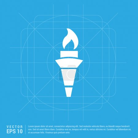 Olympic torch flat icon