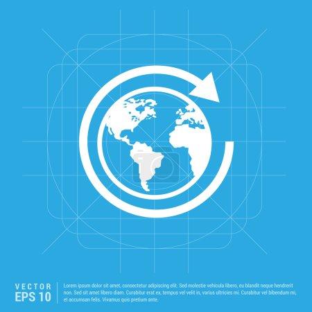 pictogram globe icon.