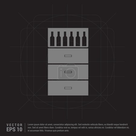 bottles on bar counter icon