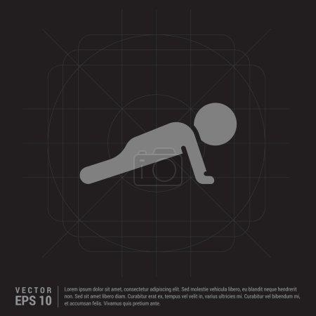 Fitness exercise icon