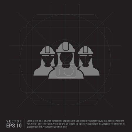 Illustration pour Icône des utilisateurs ingénieurs, illustration vectorielle - image libre de droit
