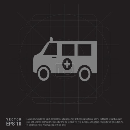 Illustration for Ambulance car icon. vector illustration - Royalty Free Image