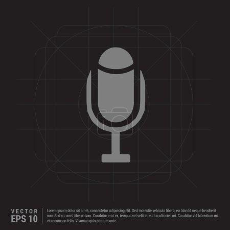 Pictogram microphone icon