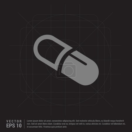 Illustration for Medical capsule icon. vector illustration - Royalty Free Image