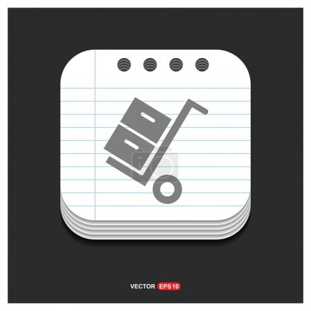 Illustration for Luggage bags on trolley Icon. Vector Illustration - Royalty Free Image