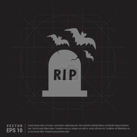 Halloween Grave Stone icon.