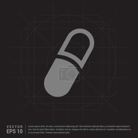 Medical capsule icon
