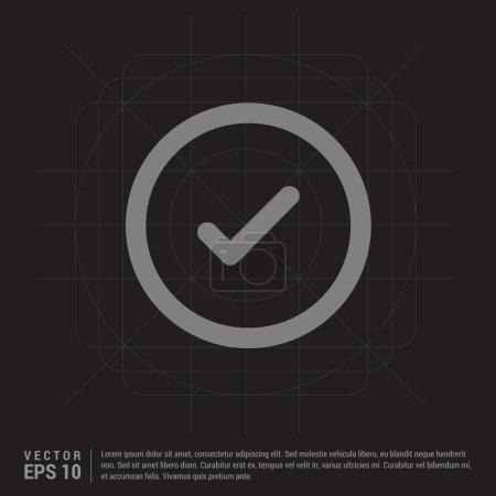 Ok icon. Circle concept web button