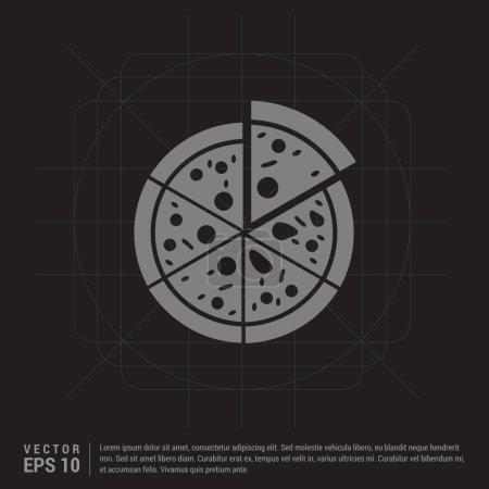 Illustration pour Icône classique de pizza tranchée. illustration vectorielle - image libre de droit