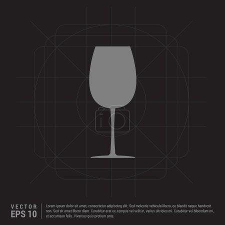 Illustration pour Icône de verre de vin. illustration vectorielle - image libre de droit