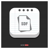 SDF file format icon