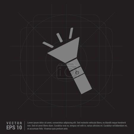 Electric flashlight icon