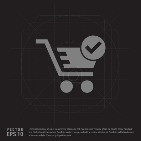 Wheel shopping basket icon