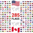 Set of 285 world Flags of sovereign states...