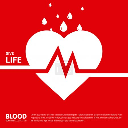 Donate Blood Creative typography Design template
