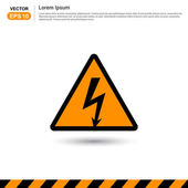 Thunderbolt danger high voltage signs