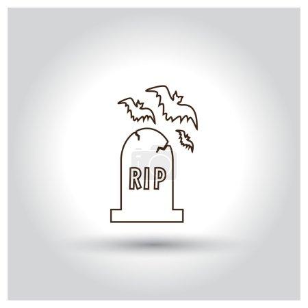 Halloween Grave Stone icon