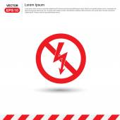 Thunderbolt danger high voltage sign vector illustration