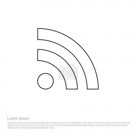 Illustration for Wifi signal icon. vector illustration - Royalty Free Image