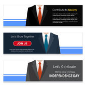 Business Man on Website banner