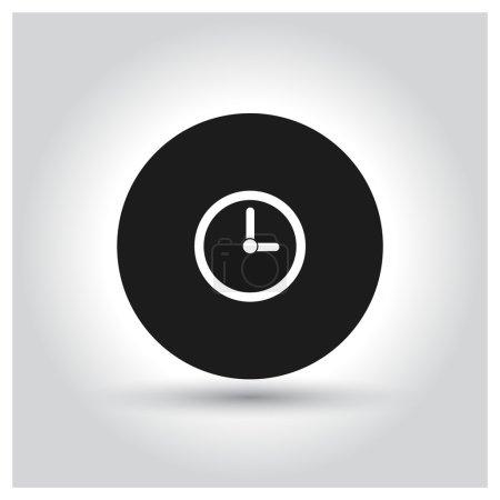 Time Icon. Black Pictogram.