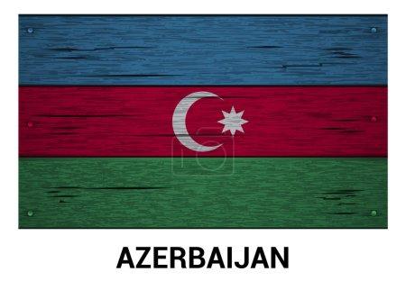 Azerbaijan wooden flag