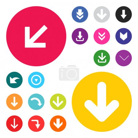 Illustration for Arrows icon set Vector illustration web internet design elements - Royalty Free Image