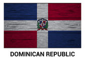 Dominican Republic wooden flag