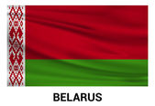 Belarus Waving flag in official colors