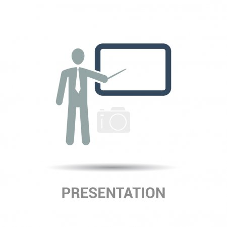 Illustration for Presentation board flat icon, vector illustration - Royalty Free Image