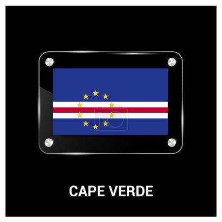 Cape Verde Flag glass plate