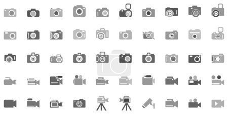 Camera Icon Set. Photography icon set.