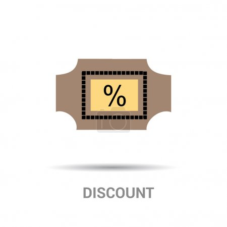 Discount tag icon with percent symbol