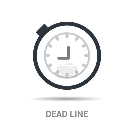 clock dead line icon