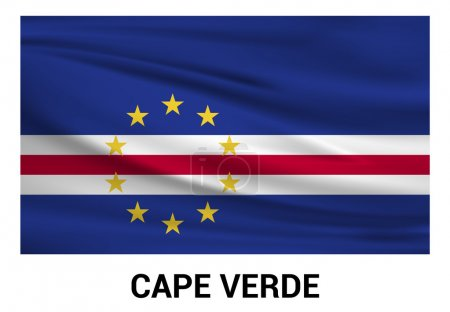 Cape Verde flag in official colors