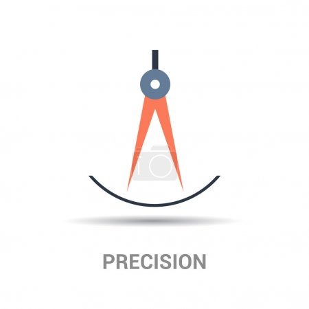 Precision colorful icon