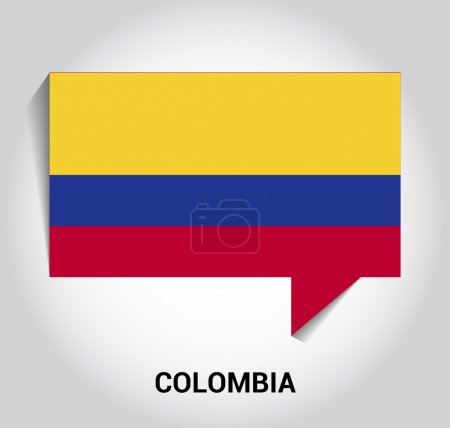 Three dimensional 3d Colombia flag